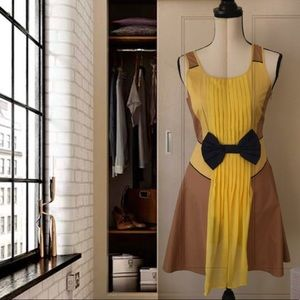 Ryu New Sleeveless Yellow/ Brown Dress